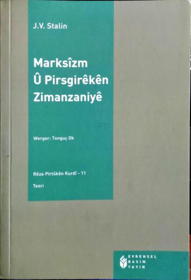 Marksîzm û Pirsgirêkên Zimanzaniyê